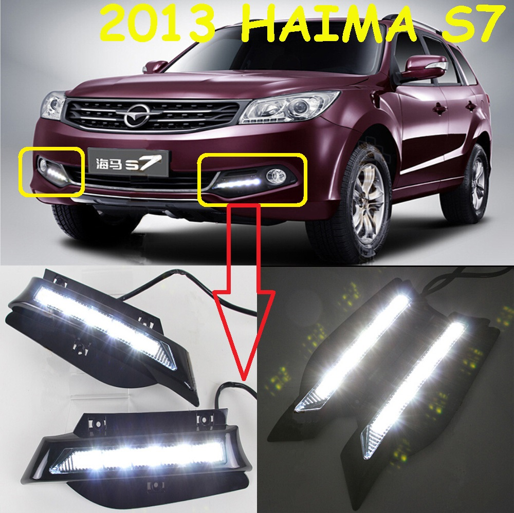 ФОТО HaiMa S7 daytime light;2013~2015,Free ship!HaiMa S7 fog light,HaiMa7 ,HaiMa 7