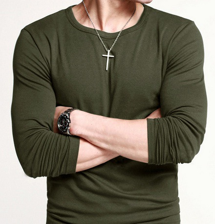 Aliexpress.com : Buy Army Green long sleeve t shirt men t men's ...