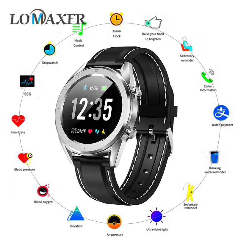 Men Smart Watch IP68 Waterproof Smartwatch ECG Heart Rate Blood Pressure Monitor Sports Fitness Tracker Wristbands for Android