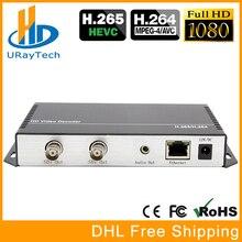 HD 3G SDI décodeur IP Streaming vers HD-SDI 3G-SDI décodeur Audio vidéo H.265 H.264 RTSP RTMP UDP HLS vers convertisseur SDI