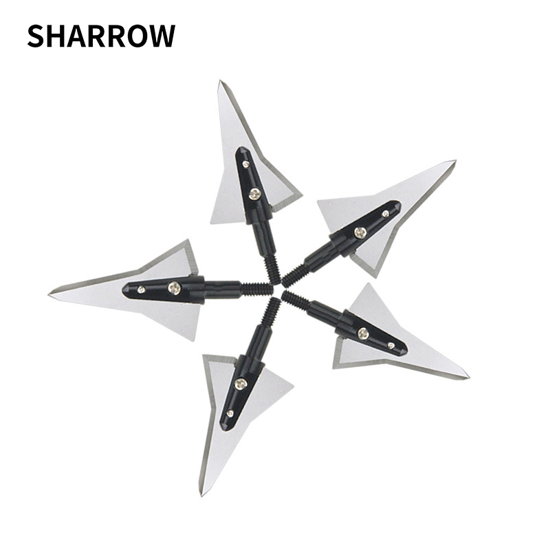 1pc Hunting Archery Broadhead Tips Point Sharp Detachable Arrowhead 2 Blades Compound Bow Accessories