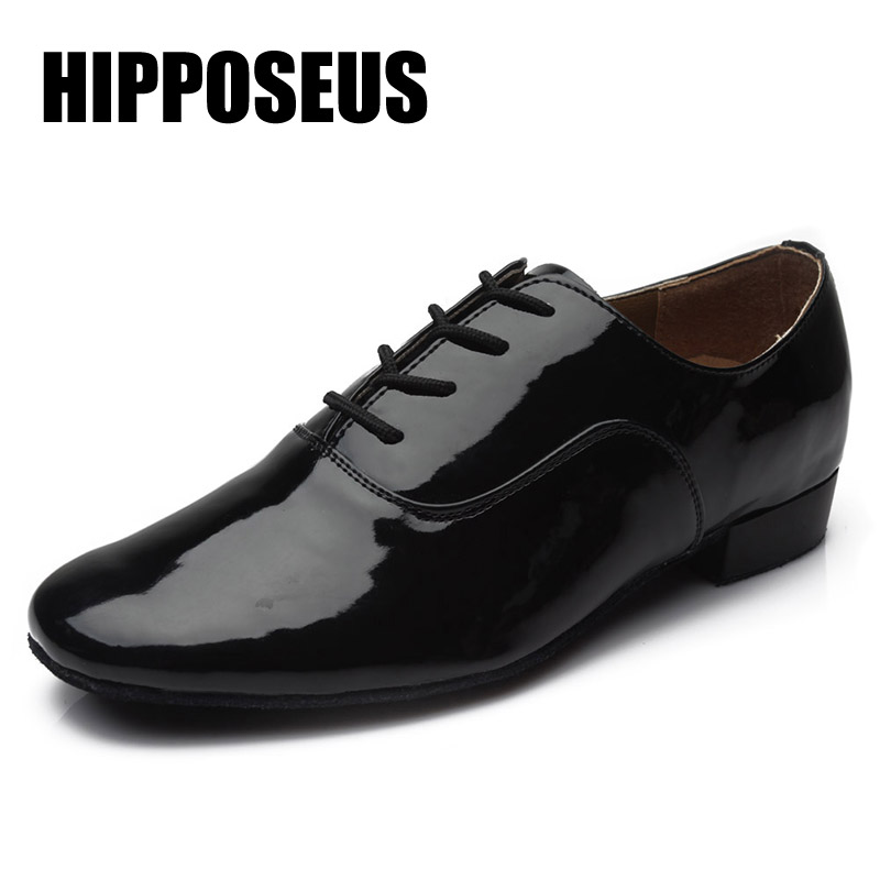 Ballroom Men Latin Dance Shoes Brand New Salsa Tango Dancing Shoes Modern Tango Salsa Leather Square Heels Adults Children Boys