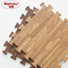 Meitoku Weiche EVA Schaum puzzle kriechende matte; 10 stücke holz verriegelung bodenfliesen; wasserdicht teppich für kinder, wohnzimmer, gym Jeder: 32X32cm