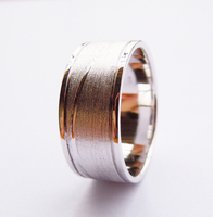 925Sterling Silver Plain Band Ring 9MM Handmade All Size