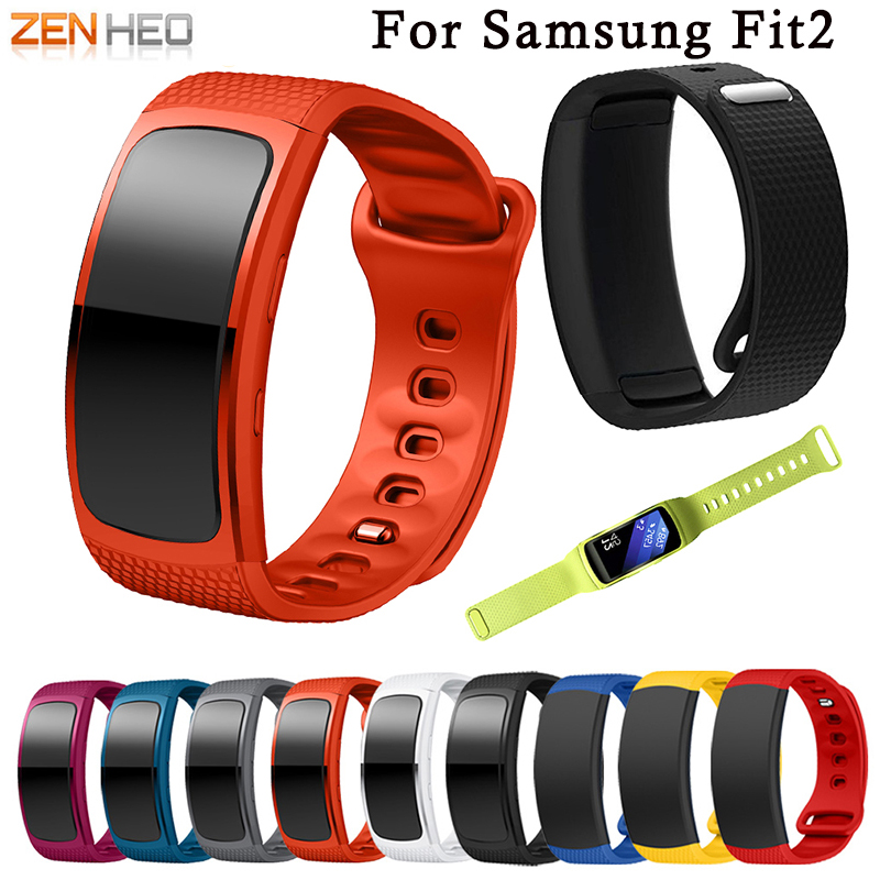 L/S Replacement Wristband For Samsung Gear Fit 2 Band Luxury Silicone Watchband For Samsung Fit 2 SM-R360 Watch Strap Drop Ship