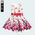KW Brand Butterfly Pattern Girls Princess Dress 2017 Summer Girls Prom Dresses for Party Fashion Girls Clothing Kids Dress