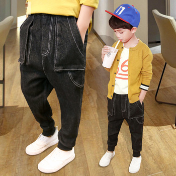 Kids Clothing 2018 New Autumn Children Denim Pants Baby Boys Trousers Gun Cotton Pencil Pants Spring Leggings Boy Wild Jeans Boys Jeans