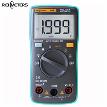 RM098 Digital Multimeter 2000 counts Backlight AC/DC Ammeter Voltmeter Ohm Portable  Meter richmeters rm100 multimeter 4000 counts back light ac dc ammeter voltmeter ohm 9 999mhz frequency diode