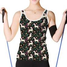 9e3e26ecb2cf4 NOISYDESIGNS Novelty Cartoon Unicorn Summer Vest Tank Sleeveless Ladies  Basic T-shirts Camisole Tops Women s. 2 Colors Available