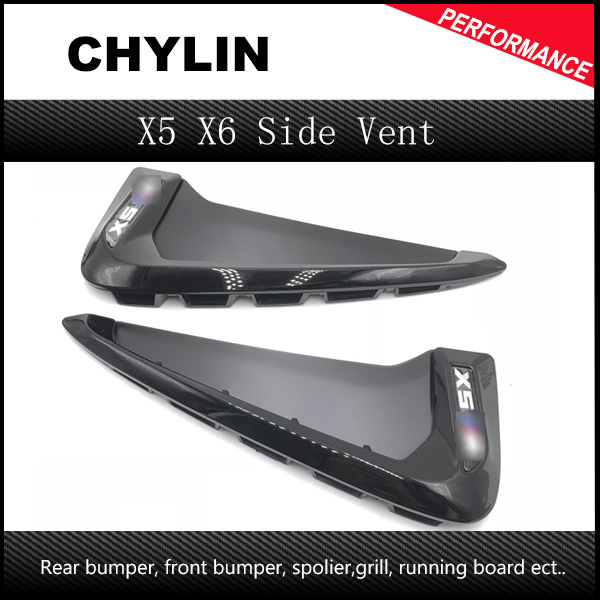 Car styling ABS Front Fender Side Air Vent Cover Trim Sticker For BMW X Series X5 F15 X6 F16 Shark Gills Side Vent Accessories