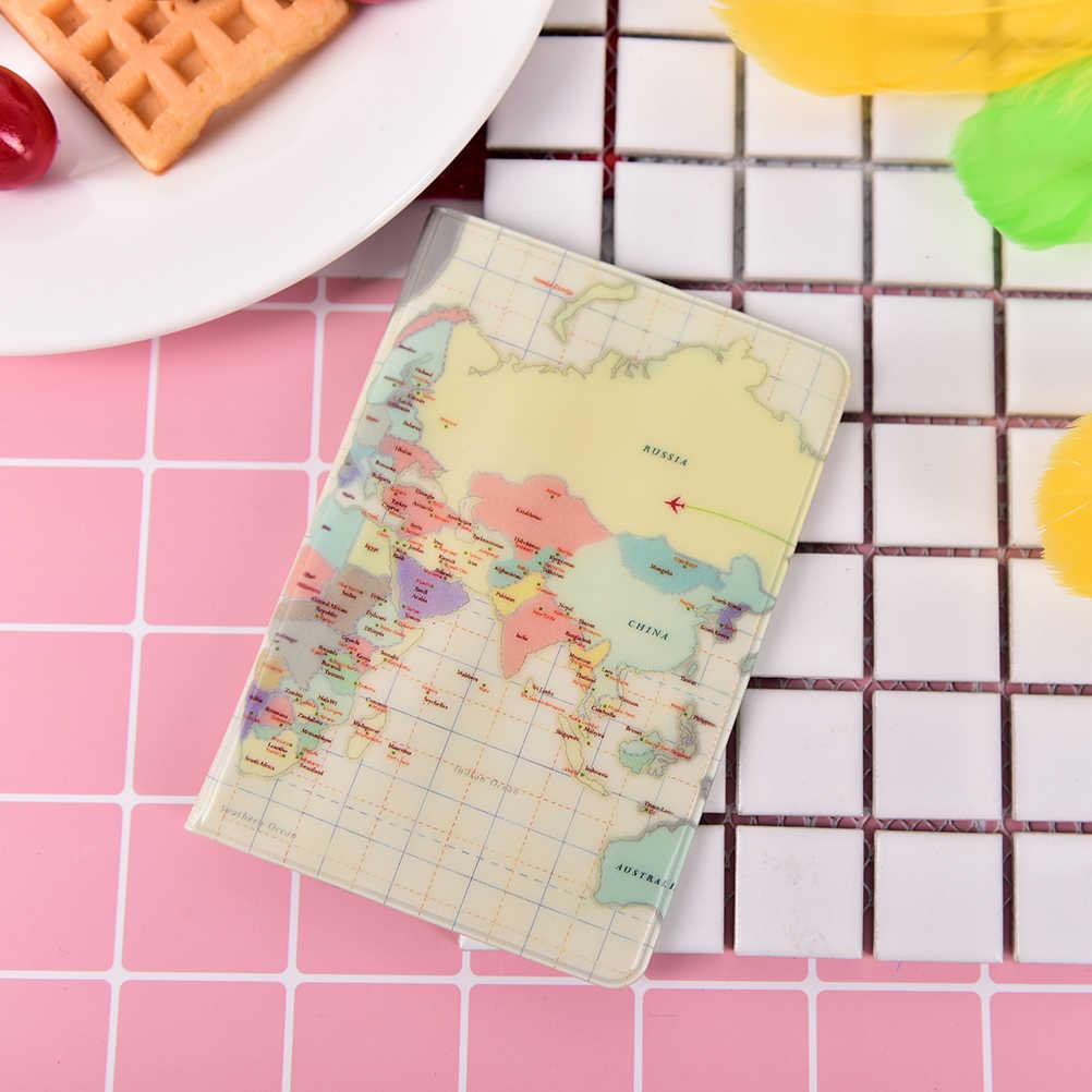 New fashion World Map Copertina Del Passaporto Titolare Del Passaporto di Protezione Femminile Pochette Passeport del Passaporto Portafoglio