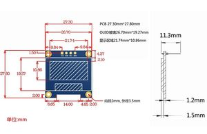 """Image 3 - 10 pièces 4pin 0.96 pouces O LED module Nouvelle 128X64 O LED écran LED lcd Module Pour Arduino 0.96 """"IIC I2C Communiquer"""