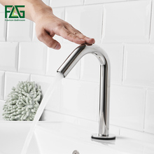 купить FLG Smart Touch Basin Faucets Stainless Steel Touch Sensor Sensitive Bathroom Faucet New Design Touch Control Mixer Tap дешево