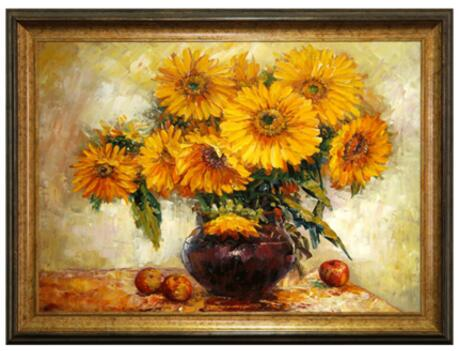 Oil painting Sunflower manual artworkOil painting Sunflower manual artwork