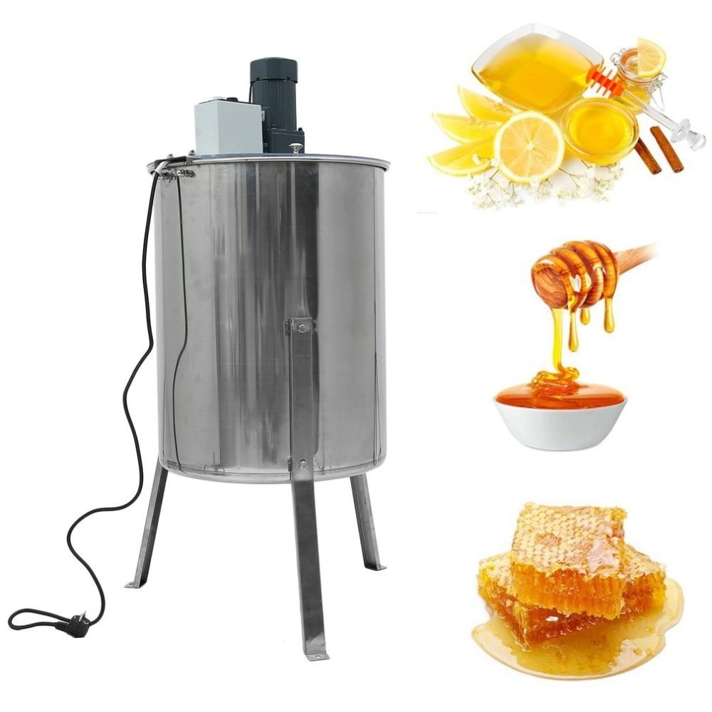 Electric Honey Blower 4 Frames Honeycomb Honey Harvest Stainless Steel Beekeeper Apiary Sling Drum Beehive Processing Tools EU