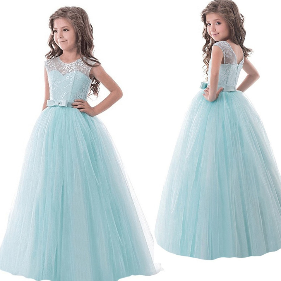 Blume Spitze Madchen Kleid Kleid Fur Hochzeit Madchen Lange Abendkleid Kinder Designs Madchen Kinder Party Tragen Teenager Maxi Tutu Kleider Design Frock Frock Designkids Party Wear Aliexpress