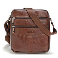 23fb32db1d55 High quality 2018 Brand Genuine Leather bag Vintage Designer Men Crossbody  bags Cowhide leather small messenger bag for man