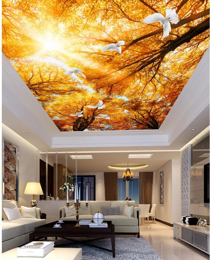 Golden Sunshine Forest Living Room Bedroom Ceiling