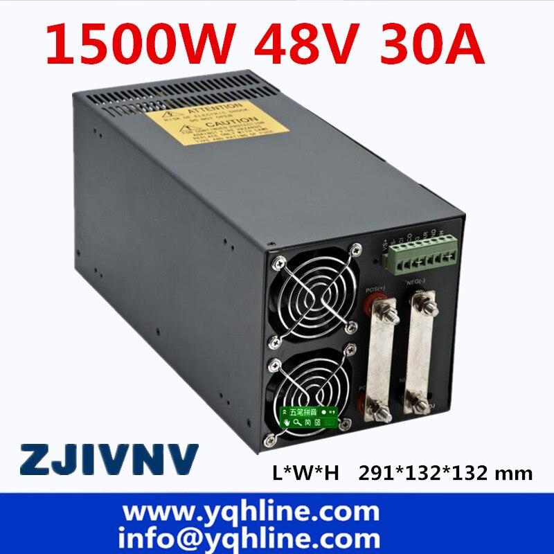 Выход 48 В 31A 1500 Вт, драйвер импульсного источника питания для светодиодной ленты, 110 В или 220 В перем. Тока, 48 В, S-1500-48