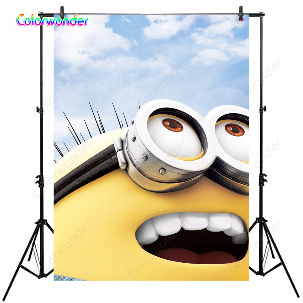 Incredible Smile Minions Backdrop Pegman Photography Background Themed Party Personalised Birthday Cards Paralily Jamesorg