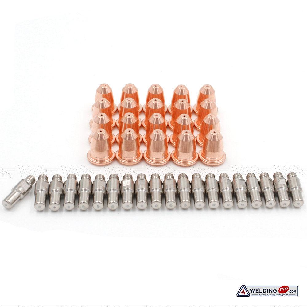WS Electrode PR-110 Nozzle PD-116-8 fit  PT60 IPT-60 PT40 IPT-40 Trafimet S45 plasma cutter torch 40pcs