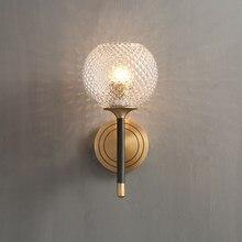Ананас стекло медь современная настенная лампа бра огни Lamparas де сравнению с светодиодный лампы E14 теплый белый 3000K AC220V