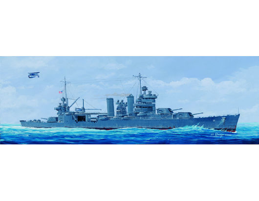 1pcs Action Figures Kids Gift Collection For Trumpeter 05309 1/350 USS San Francisco CA-38 1942 Plastic Model Warship Kit trumpeter artwox 05325 warspite hms 1942 deck aw10074 wooden