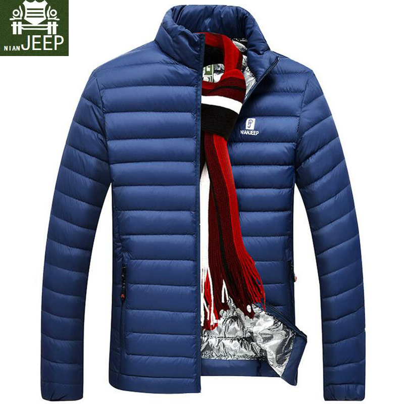 DOWN   JACKET MEN Brand Clothing Spring Ultra Light Casual Parkas Stand Collar   Coat   Male Warm Fashion White Duck   Down   Jacket Men