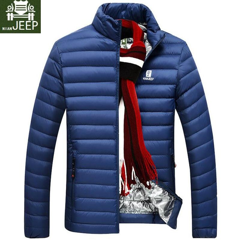 Подпушка куртка Для мужчин брендовая одежда Весна Ultra Light Повседневные куртки стенд Куртка с воротником мужской теплый мод белая утка Подпушка куртка Для мужчин