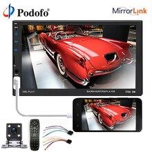 Podofo 2 din Автомобильный Радио Bluetooth 7 «HD сенсорный экран MP5 плеер аудио стерео Мультимедиа Видео плеер 2Din Авторадио AUX/USB/SD
