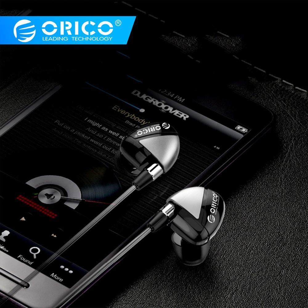 ORICO Fones de ouvido Com Microfone de fone de ouvido de Metal fone de Ouvido Estéreo Super Bass Fone de Ouvido para Telefones iPhone Samsung
