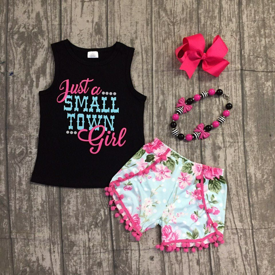 new baby girls summer clothing children just a small town girls clothing girls top with floral shorts outfits with accessoreis zaful new cami wrap top with striped shorts tied slip top women crop summer beach stripe top high waisted shorts