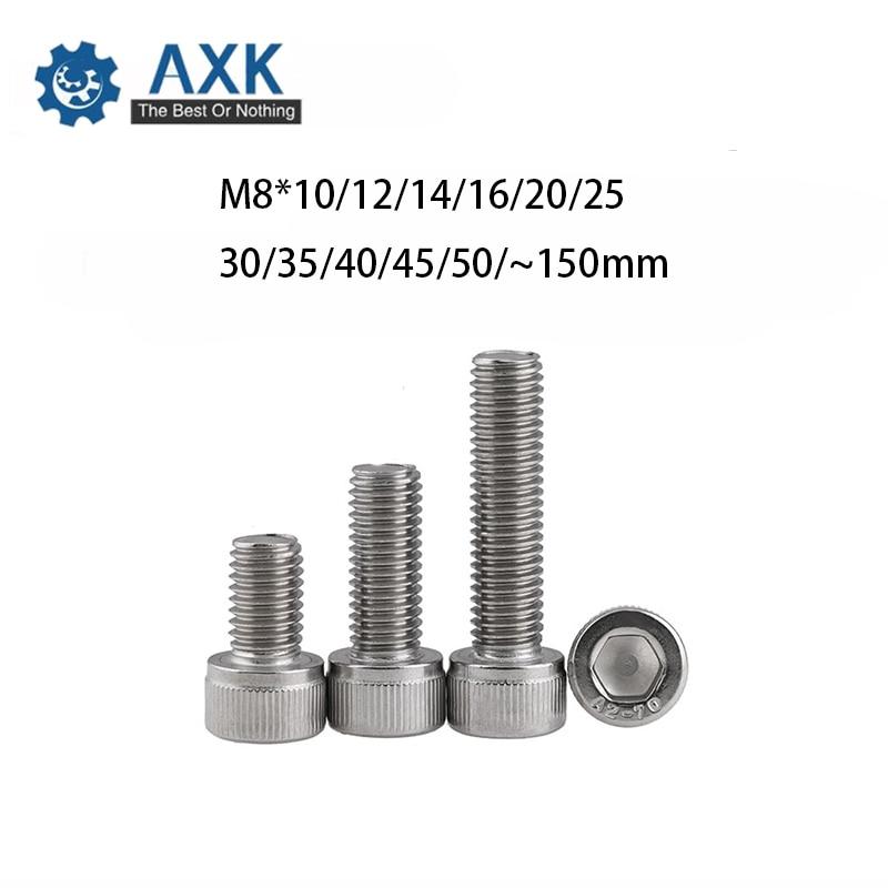 tuercas M8 x 10 de acero inoxidable A2 clase de resistencia 70 40 tornillos hexagonales