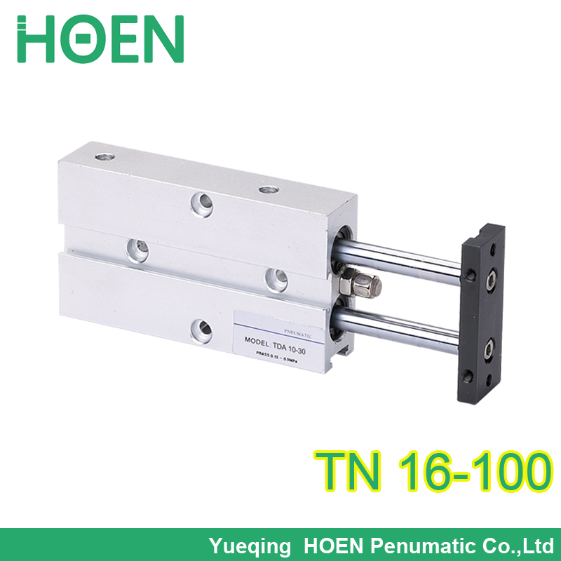 Free shipping AirTAC type tn16-100 cylinder Tn 16*100 double rod cylinder TDA16-100 pneumatic components TDA16*100 cylinder tn16 200 tn series dual rod double action pneumatic cylinder tn tda twin spindle air cylinder tn 16 200 tn16 200 tn 16 200