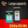 2 pcs cartucho de tinta para hp 350 351 350xl 351xl compatível para hp d4263 d4200 d4260 d4360 c4380 j5730 5780 5785 4480 4580 4270