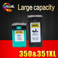 2pcs ink cartridge for HP 350 351 350XL 351XL compatible for HP D4200 D4260 D4263 D4360 J5730 5780 5785 C4380 4480 4580 4270