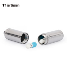 Tiartisan Kitchen Accessories Fancy Pill Box Smart Sealed Waterproof Case Titanium Metal Container