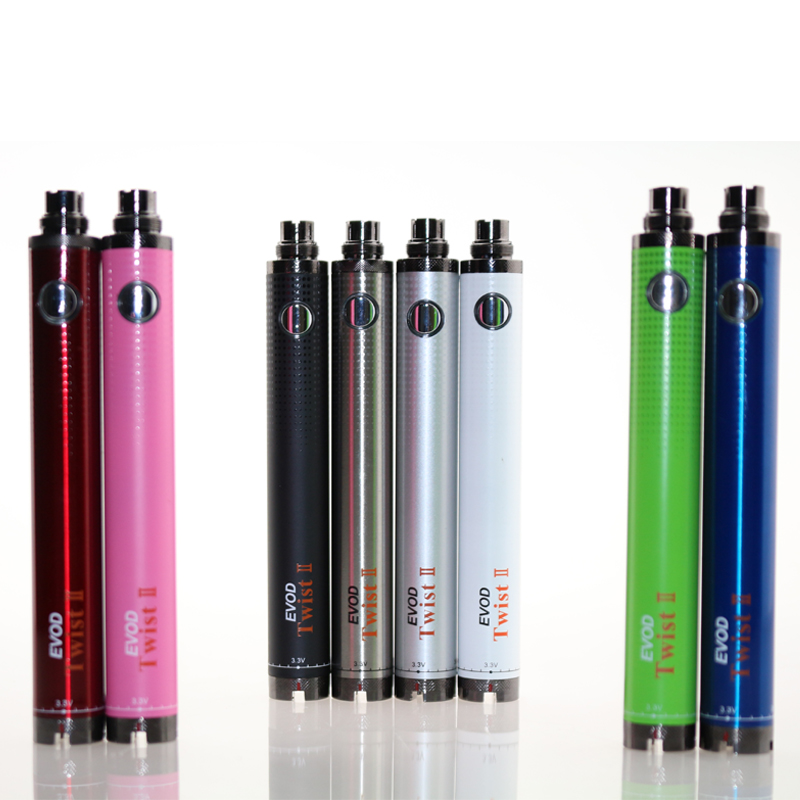 Evd Twist II Battery Variable Voltage Electronic Cigarette Battery Evd Twist 2 E Cigarette Fit For CE4 Ce5 MT3 Oil Cartridge