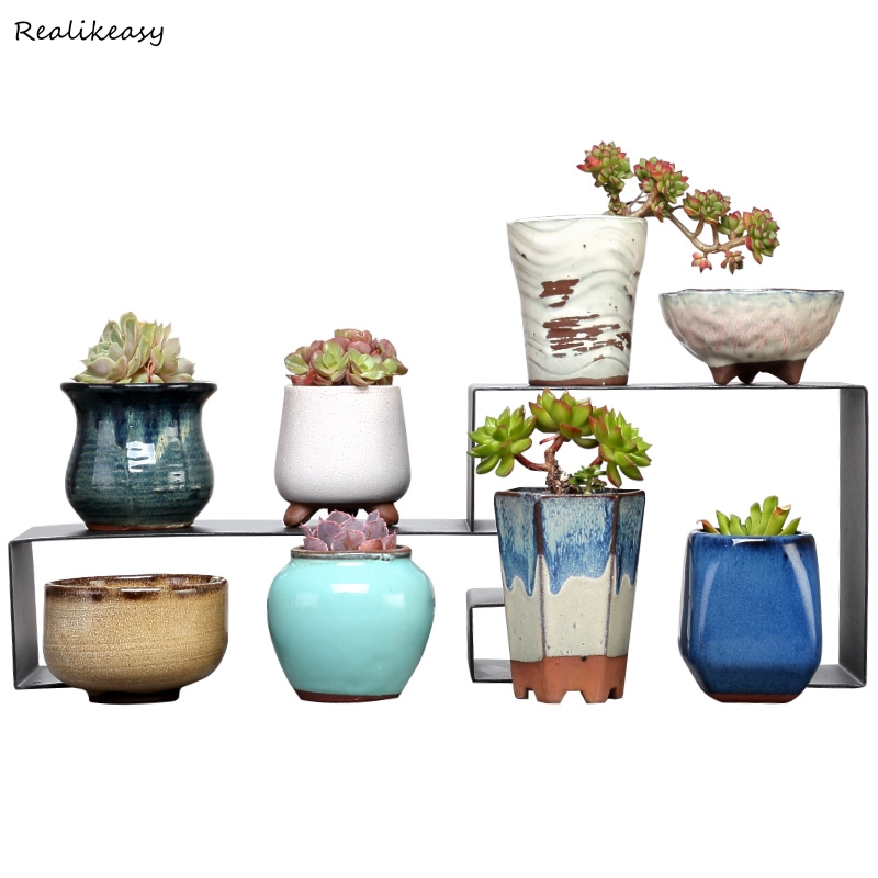 Achat Simple Floral Pots Creative Céramique Pot De Fleurs Plante ...