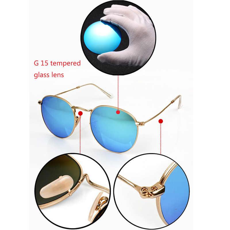 591f29078596 ... Top quality Glass lens Steampunk Round metal frame Sunglasses Men Women  Luxury design brand retro driving ...