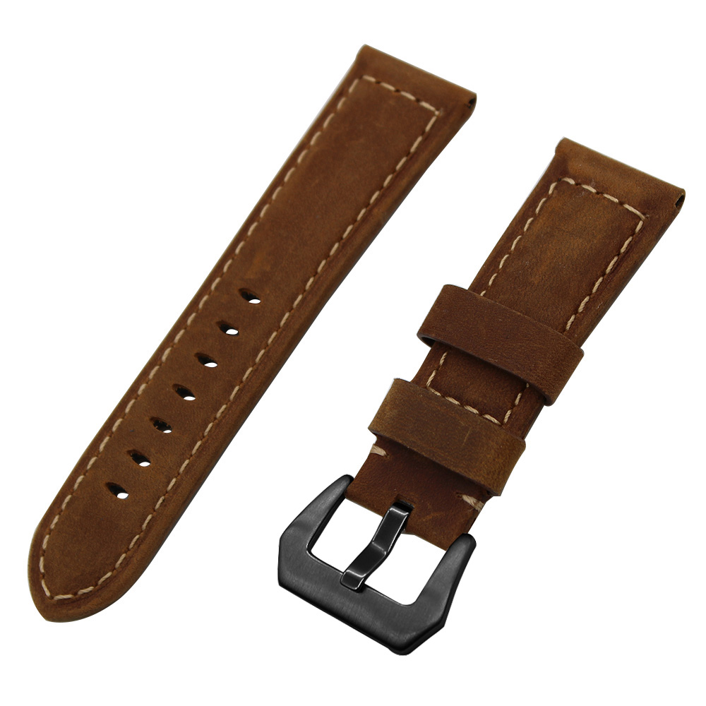 20mm 22mm 24mm 26mm Italy Genuine Leather Watch Band for Panerai Luminor Radiomir Stainless Steel Buckle Watchband Wrist Strap