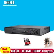 CCTV DVR 16Ch Digital Video Recorder AHD 16 Channel H.264 Hybrid Home Security DVR 1080P HDMI Output Onvif P2P