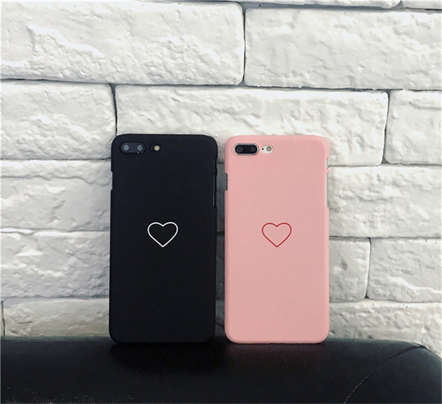 Cute iPhone Case Cover Love Heart Hard PC For XS Max, XS, XR, X, 8, 8 Plus, 7, 7 Plus, 6, 6 Plus, 6s, 5s, 5, SE