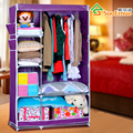 Simple wardrobe cloth wardrobe simple thick reinforced steel shipping special large-capacity single student wardrobe closet