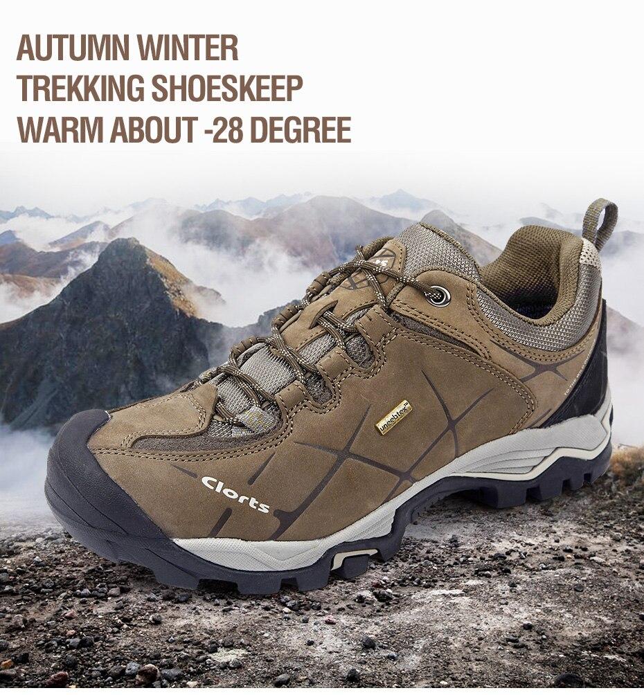 Clorts Men Hiking Shoes Nubuck Climbing Shoes Waterproof 1