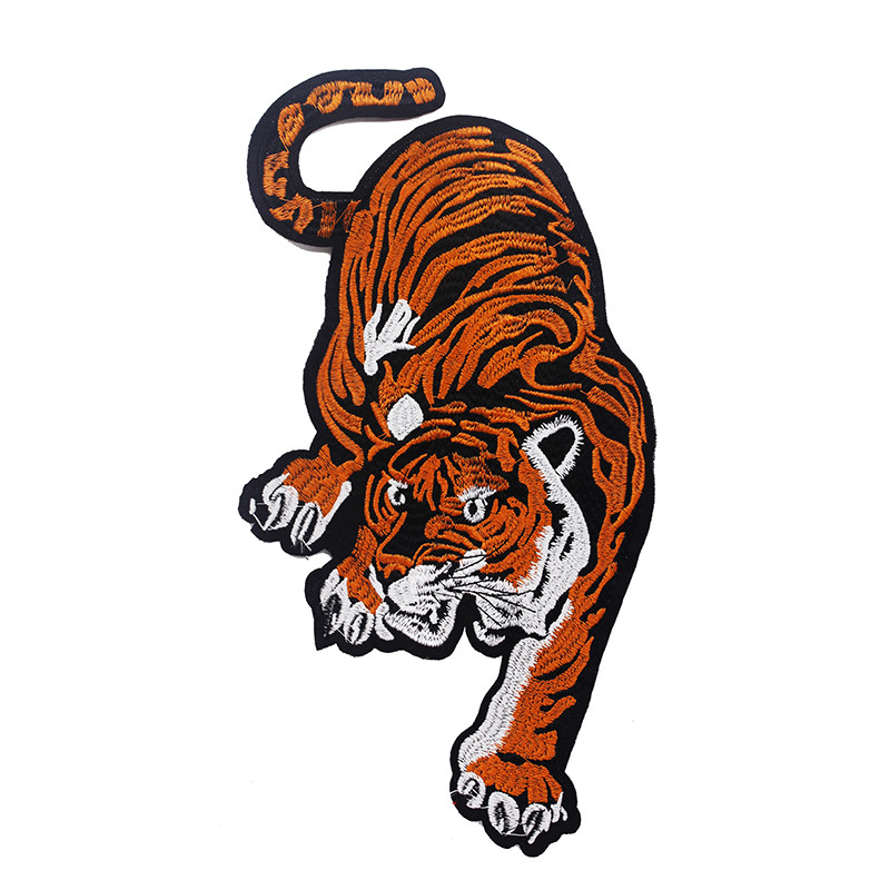 10pieces Bengal Tiger Pattern Cloth Patches Embroidery Sew On Patch