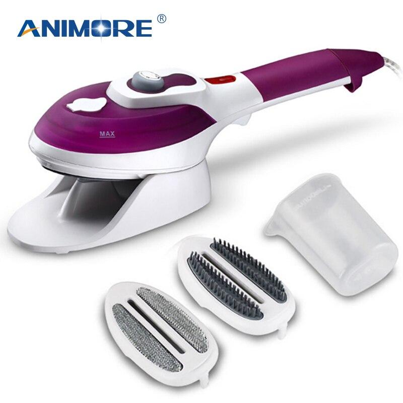 ANIMORE vaporizador de ropa electrodomésticos Vertical barco de vapor con planchas de vapor cepillos de hierro para planchar ropa para el hogar 220 V