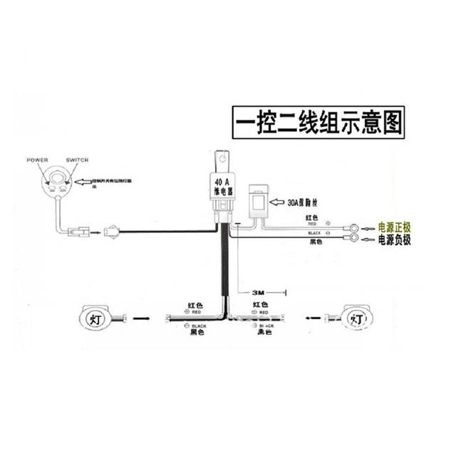 US $10.4 22% OFF|LED Light Bar Wiring Harness For Boat SUV Off Road on