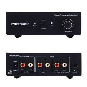 Image 2 - MM RIAA Turntable Fono Preamp AUX Girişi Ses Sinyali Ön Amplifikatör Volumer