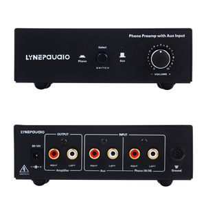 Image 2 - MM RIAA Turntable Phono Preamp with AUX Input Audio Signal Pre Amplifier Volumer